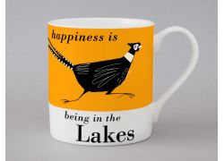 A bone china Lakes pheasant mug by Repeat Repeat