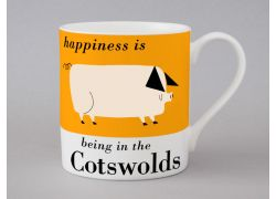 A bone china Cotswolds pig mug by Repeat Repeat