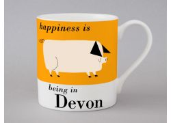 A bone china Devon pig mug by Repeat Repeat