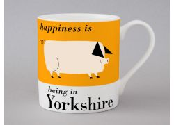 A bone china Yorkshire pig mug by Repeat Repeat
