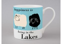 A bone china Lakes sheep mug by Repeat Repeat