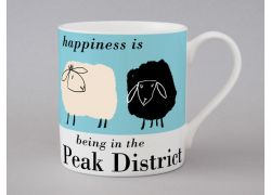 A bone china Peak District sheep mug by Repeat Repeat