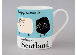 A bone china Scotland sheep mug by Repeat Repeat