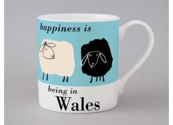 A bone china Wales sheep mug by Repeat Repeat