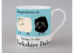 A bone china Yorkshire Dales sheep mug by Repeat Repeat