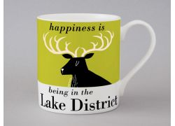A bone china Lake District stag mug by Repeat Repeat