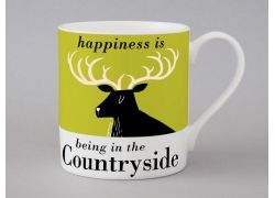 A bone china stag mug by Repeat Repeat