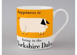 A bone china Yorkshire Dales pig mug by Repeat Repeat