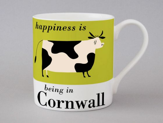 A bone china Cornwall cow mug by Repeat Repeat