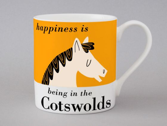 A bone china Cotswolds Horse mug by Repeat Repeat