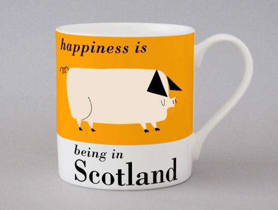 A bone china Wales pig mug by Repeat Repeat