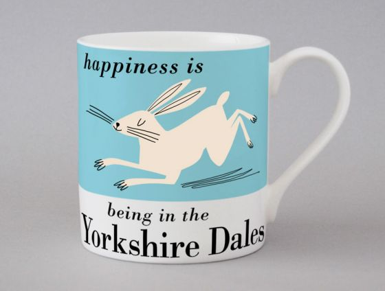 A bone china Yorkshire Dales Hare mug by Repeat Repeat